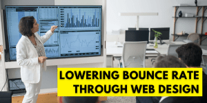 Web design to lower bounce rate